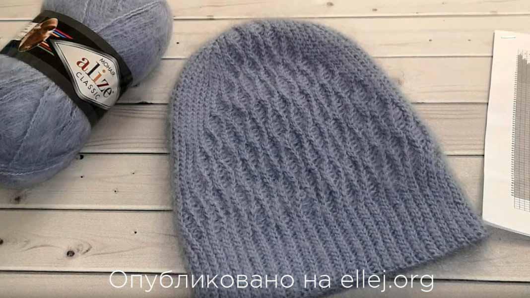 Модная шапочка бини от Натальи Рогатовской.