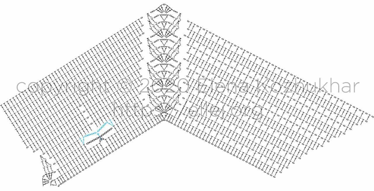 Схема вязания реглана.