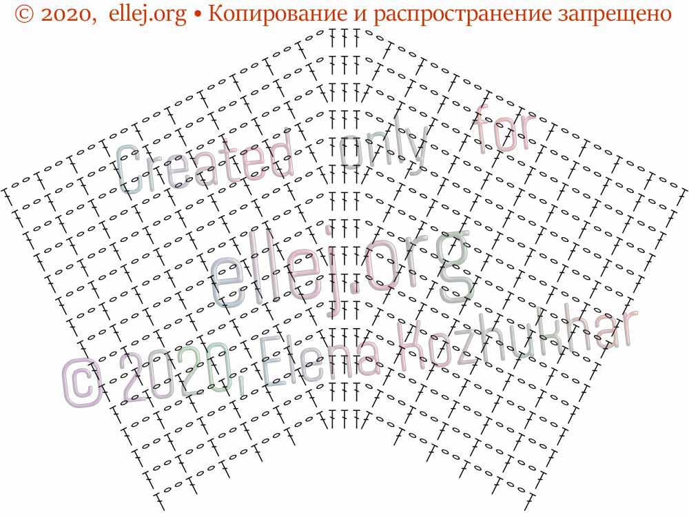 Схема расширения филейной сеточки