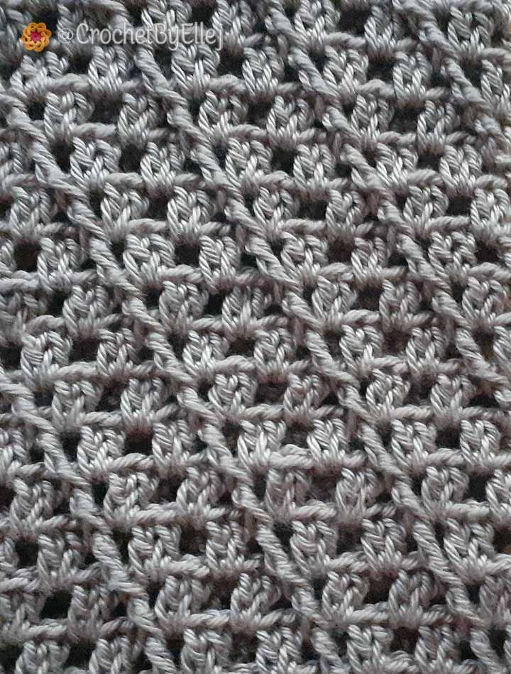 Диагональный узор крючком