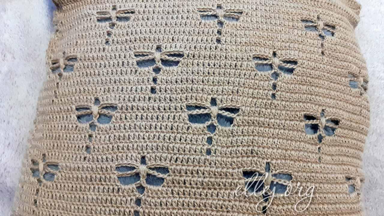 Маленькие стрекозы с пышными столбиками | Вязание крючком от Елены Кожухарь
